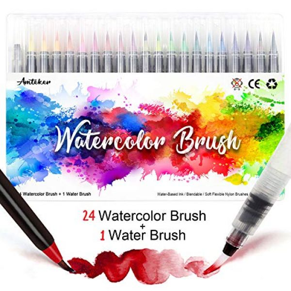 Amteker Brush Pen Set 24 + 1